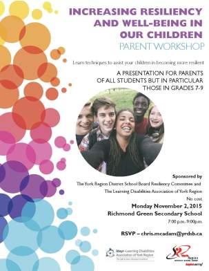 Resiliency Parent Workshop - Nov  2